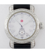 Michele Stainless Steel Diamond CSX Quartz Women's Watch w/ Leather Band - $889.49
