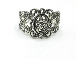 Danecraft Sterling Silver Cuff Bracelet Vintage Scroll Work Design Signe... - $133.65