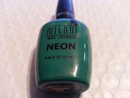 MILANI NAIL POLISH / LACQUER NEON  #504 FRESH TEAL - $4.95