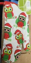 "Fabric Printed Kitchen 13"" Oven Mitt, WINTER, CHRISTMAS OWLS IN SANTA HA... - $7.91"