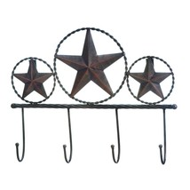 Rustic Iron Americana 3 Wall Hook Home Decor - $15.14