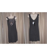 M NIC & DOM Gray Sequinned Sleeveless Summer Party Stylish Knee-Level Dress - $25.99