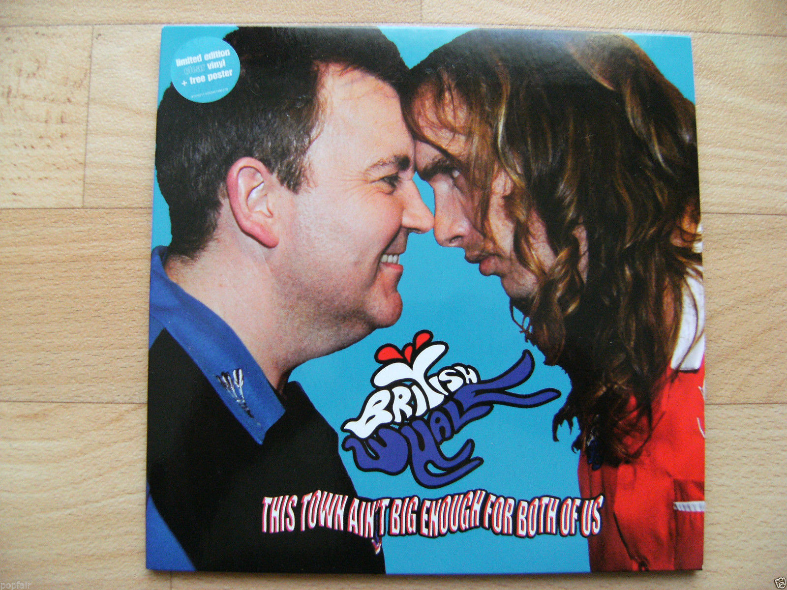 """BRITISH WHALE -THIS TOWN AIN'T BIG ENOUGH FOR BOTH OF US 7"""" CLEAR VINYL W/POSTER"""