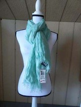 Style&Co Women's evening Wrap Scarf, Metallic Shimmer Soft Mint - $9.55