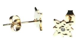 Nuevo Kevia 18K Oro Chapado Circonita Cúbica Cristal Starburst Poste Pendientes image 2