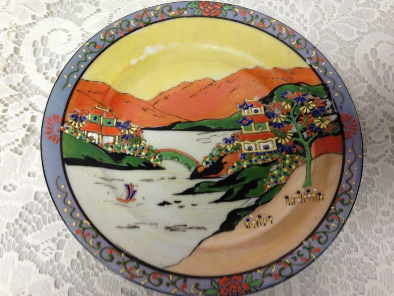 Vintage, Rare, JapanVariant, Gaudy Blue Willow 7.5in Lunch or Snack Plate - $15.15