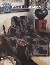 Mosaic Tile Afghan, Annie's Crochet Quilt & Afghan Pattern Club Leaflet ... - $2.95