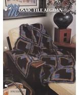 Mosaic Tile Afghan, Annie's Crochet Quilt & Afghan Pattern Club Leaflet ... - $2.95