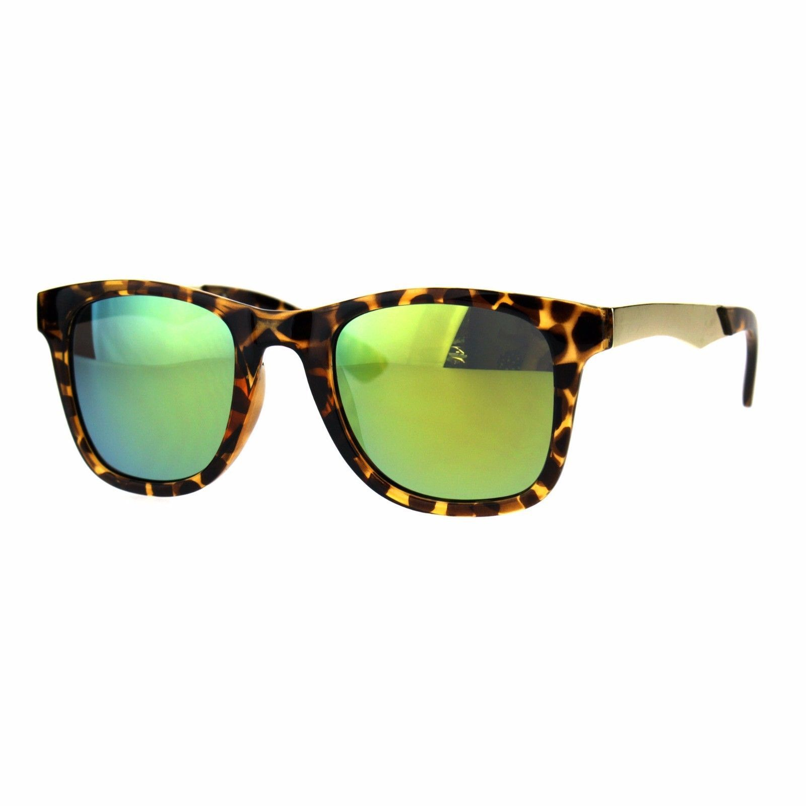 Unisex Fashion Sunglasses Classic Square Frame Metal Temple UV 400