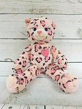 "Adorable 19"" Build a Bear Pink Hearts Spotted CHEETAH Leopard Plush Girl... - $17.05"