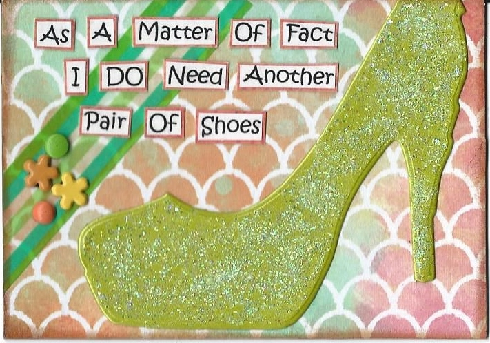Primary image for ACEO ATC Art Card Collage Original Ladies Women Need Shoes High Heels