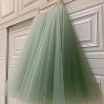 Carrie Bradshaw Tulle Skirt Outfit Plus Size Midi Tulle Green Tutu Holiday Skirt image 4
