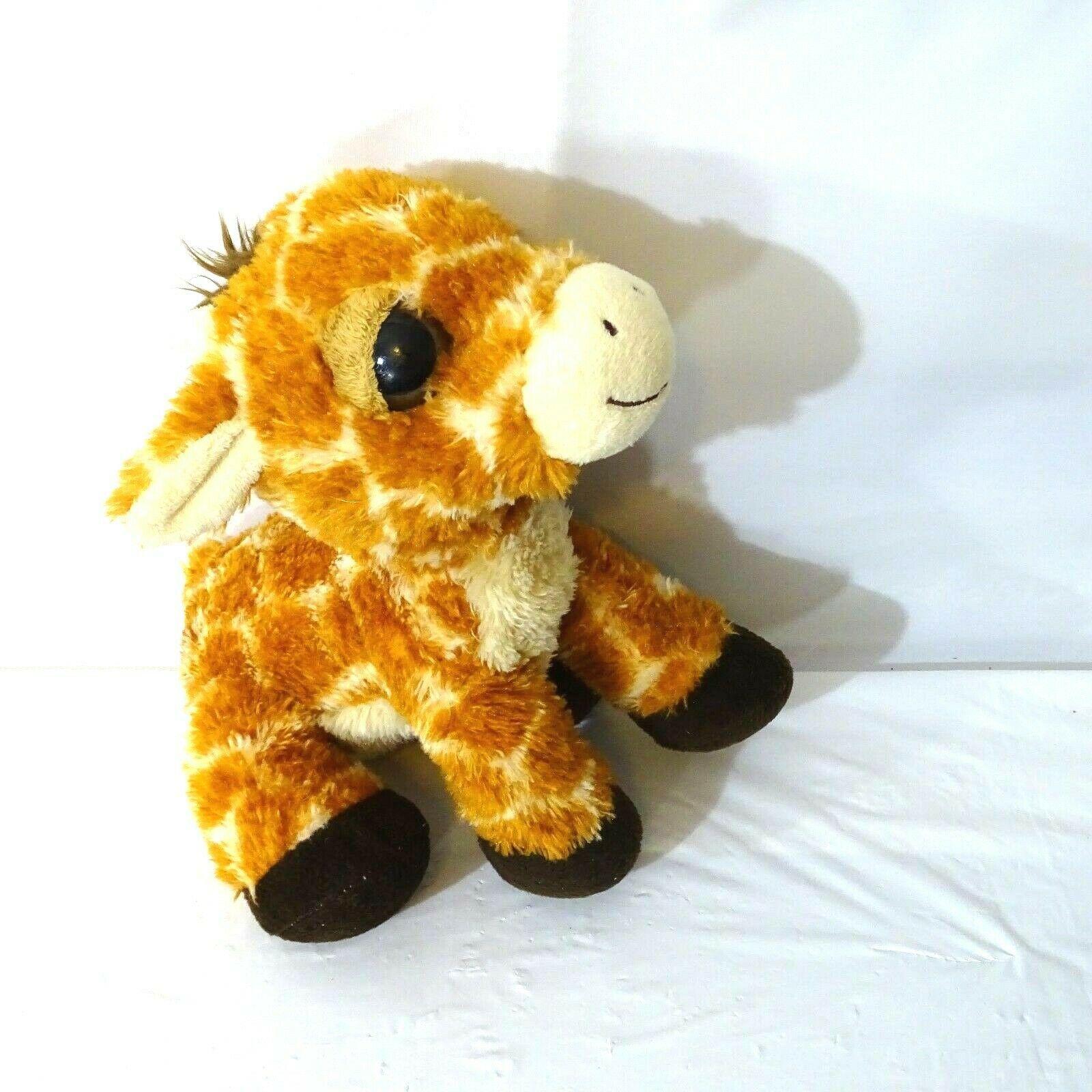 Aurora Giraffe Dreamy Eyes Stuffed Animal Plush Toy 9 inch Tan Brown