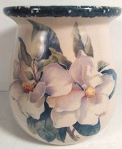 HOME AND GARDEN PARTY FLORAL CROCK HAND MADE IN USA CIRCA NOV. 2000, 5.5... - $14.99
