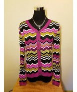 Missoni Shimmery Purple Knit Cardigan Sweater - Women's X-Small XS - $50.00