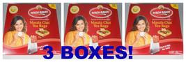 3 Pack ! Wagh Bakri Waghbakri Masala Chai 100 Tea Bags Net Wt: 200gm Usa Seller - $26.00