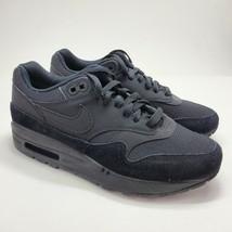 "2019 Nike Air Max 1 Womens Sz 7 ""Triple Black"" Running Shoes 319986-045 NEW - $99.00"