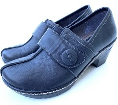 EURO SOFT BY SOFFT Women's Beyla Black Leather Slip On Heel Shoes SZ 6M - $26.72
