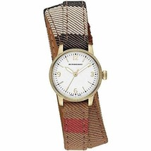 Burberry Utilitarian White Dial Burberry Check Canvas Ladies Watch BU7851 - $395.99
