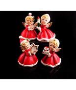 1950's Christmas Angel figurines - Napco Japan - Mandolin - Harp - Chris... - $135.00