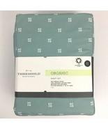 Threshold Organic Sheet Set Full Size Blue Printed 300 Thread Count - $33.62