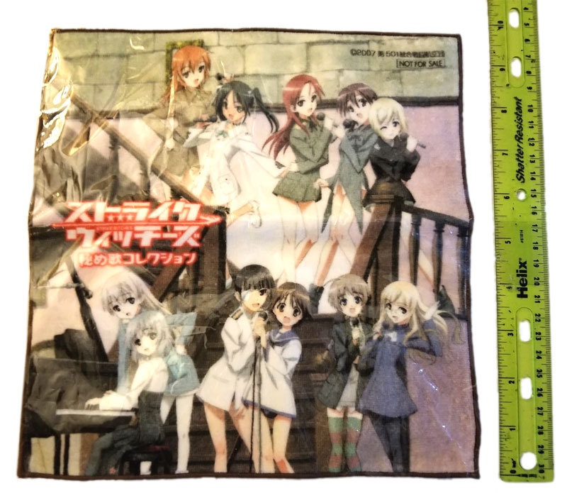 Strike Witches Gashapon Anime Mini - Towel * KANKO