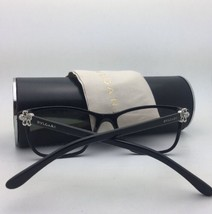New BVLGARI Eyeglasses 4091-B 501 51-17 135 Shiny Black Frame w/ Crystals