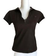 Bottega Veneta Brown Polo Style Cotton Silk Top Size 42/S - $98.00