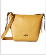 NEW Coach Womens Small Dufflette in Natural Calf Leather, Flax 21377,Han... - $129.99