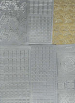 6 sheets lot mixed sheets of peel off stickers  ideal cards, papercraft, display