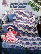 Learn to Crochet in Just One Day American School Leaflet 1146 Baby Afghan Bonnet - $5.95