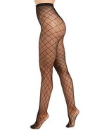 INC International Concepts Women's Diamond-Fishnet Tights, Black, S/M - $11.88