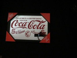 Coca-Cola Delicious and Refreshing Mirror in Frame Sign   - BRAND NEW - $13.61