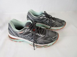 Asics Gel Nimbus19 Womens Sz 9.5 Gray Mint Running Athletic Sneakers Sho... - $32.30