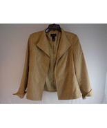 WOMEN'S BLAZER Investment Petites Light Brown Faux Suede JACKET Size 14P - $23.75