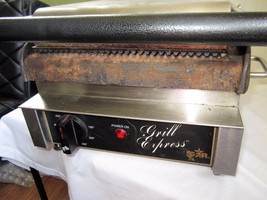 Star Grill GX10IG Commercial Panini Sandwich Press w/ Cast Iron Grooved Plates - $229.99