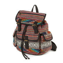 Burlington Multi-Color Yarn Dye Backpack School Book Bag - NWT - $28.79