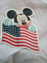 Vintage WDW Walt Disney World Mickey Mouse Amerian Flag Magnet Rare HTF - $9.99