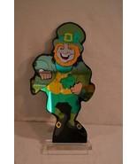 "Acrylic Lucite Mirrored Leprechaun St Patricks Day Display 20"" Figure - $40.00"