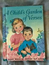 Un per Bambini Giardino di Verses Rand Mcnally Elfo Libro Vintage 18.3ms... - $14.84