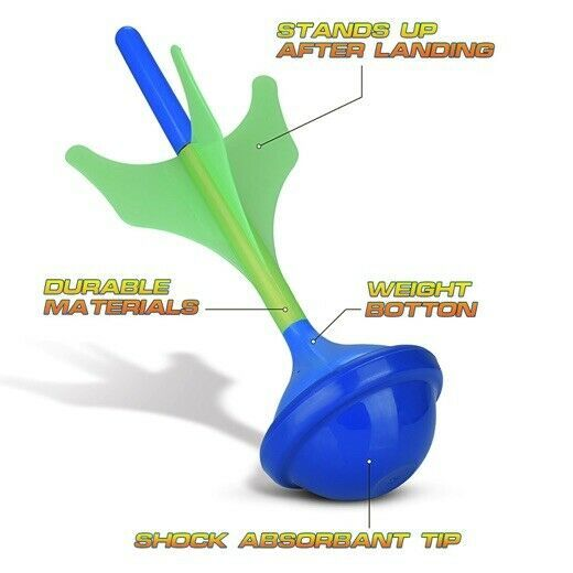 Lawn Darts Game – Glow in The Dark, Outdoor Backyard Toy for Family Fun, Parents image 6