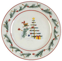 Farberware Holiday Snowman Christmas Collectible Paraglazed Salad Plate ... - $7.99