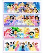 Disney princesses border strips thumbtall