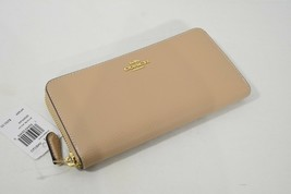NWT Coach F16612 Leather Accordion Zip Around Wallet in Beechwood - $149.00