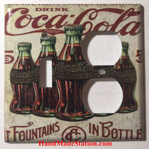 5 Cents Coke Bottles Old Poster Light Switch Outlet Wall Cover Plate Home Decor image 11