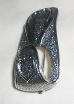 Sarah Coventry Split Trick Silvertone Brooch Scarf Holder  Clip Vintage - $9.79