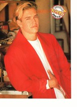 Jason Priestley Mark Paul Gosselaar teen magazine pinup clipping red jacket Bop