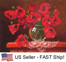 Diamond Dotz Red Poppies 5D Diamond Painting Embroidery Facet Kit - $26.95