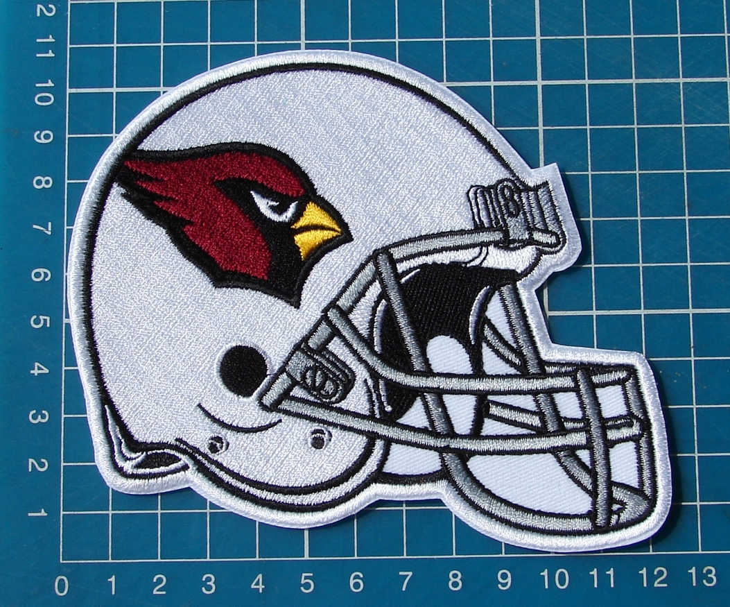 "Primary image for ARIZONA CARDINALS FOOTBALL NFL HELMET 5"" LOGO EMBROIDERY PATCH"