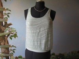 Express Pastel Green sequin Top Blouse Cami Size XS New With Ticket - $28.95